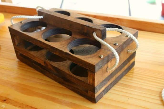 Wooden DIY Beer Holder