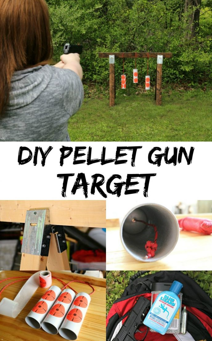 DIY Pellet Gun Target! Learn how to make this EASY pellet and bb gun target and protect yourself from the sun during your backyard fun! Check it out now!