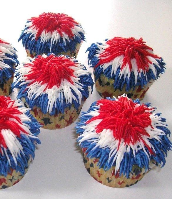 Firework Patriotic Cupcakes