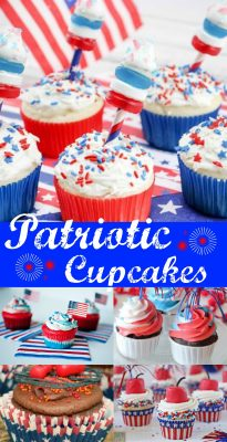 Patriotic 4th of July or Memorial Day Cupcake Recipes