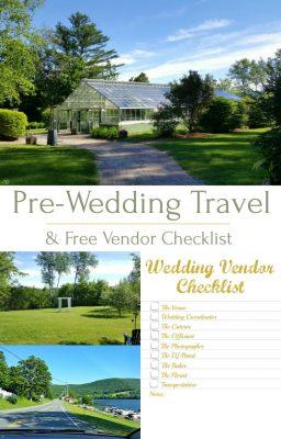Pre wedding travel