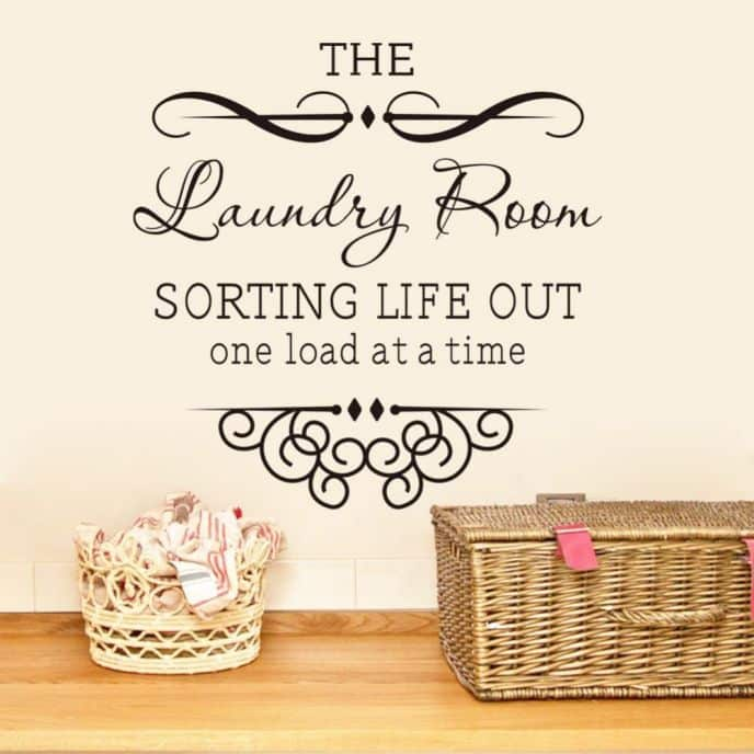 Sorting Life Out One Load At A Time Laundry Room Wall Decal