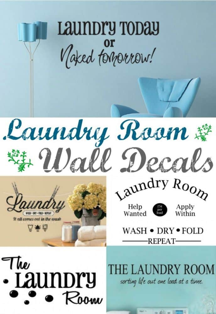 Learn how to install laundry room wall decals! #DIYhome Spruce up your laundry room with a fresh wall decal! Laundry today or Naked Tomorrow? Funny and serious laundry room wall decals, one of these will look great in your home! #home #homedecor #decor #decoration #laundry #laundryroom #wash #dry #fold #organization #decorations #homedecorideas #diy