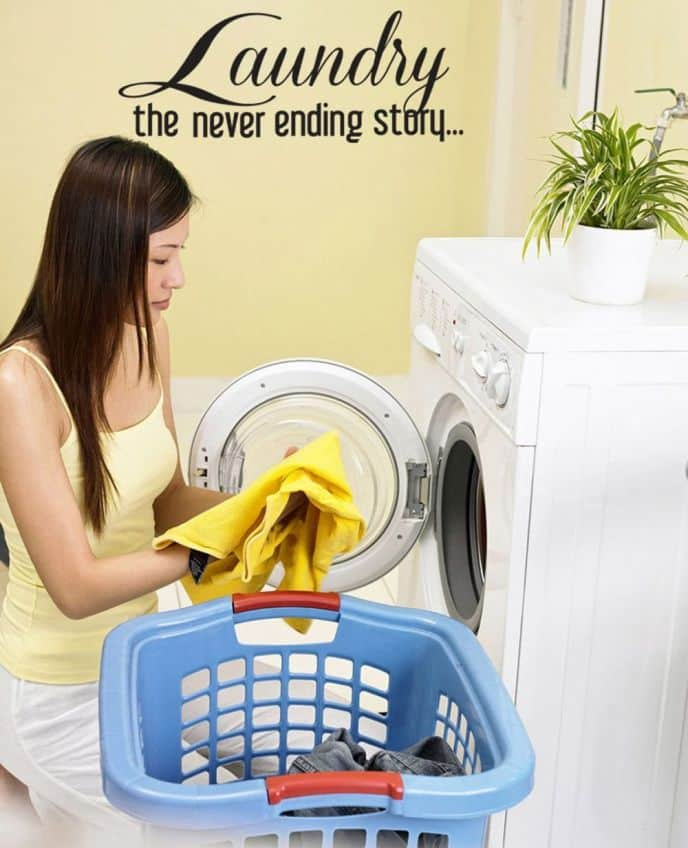 Never Ending Story Laundry Room Wall Decal