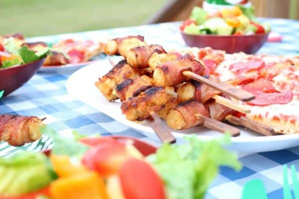 Bacon Wrapped Tater Tots Kabobs
