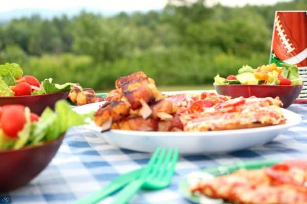 Bacon Tater Tots and Pizza Party