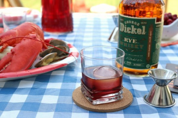Rock Lobster Drink Recipe with Raspberry Liqueur and Whiskey