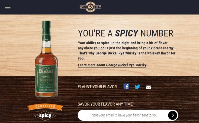 Whiskey5 Flavor Match Spicy