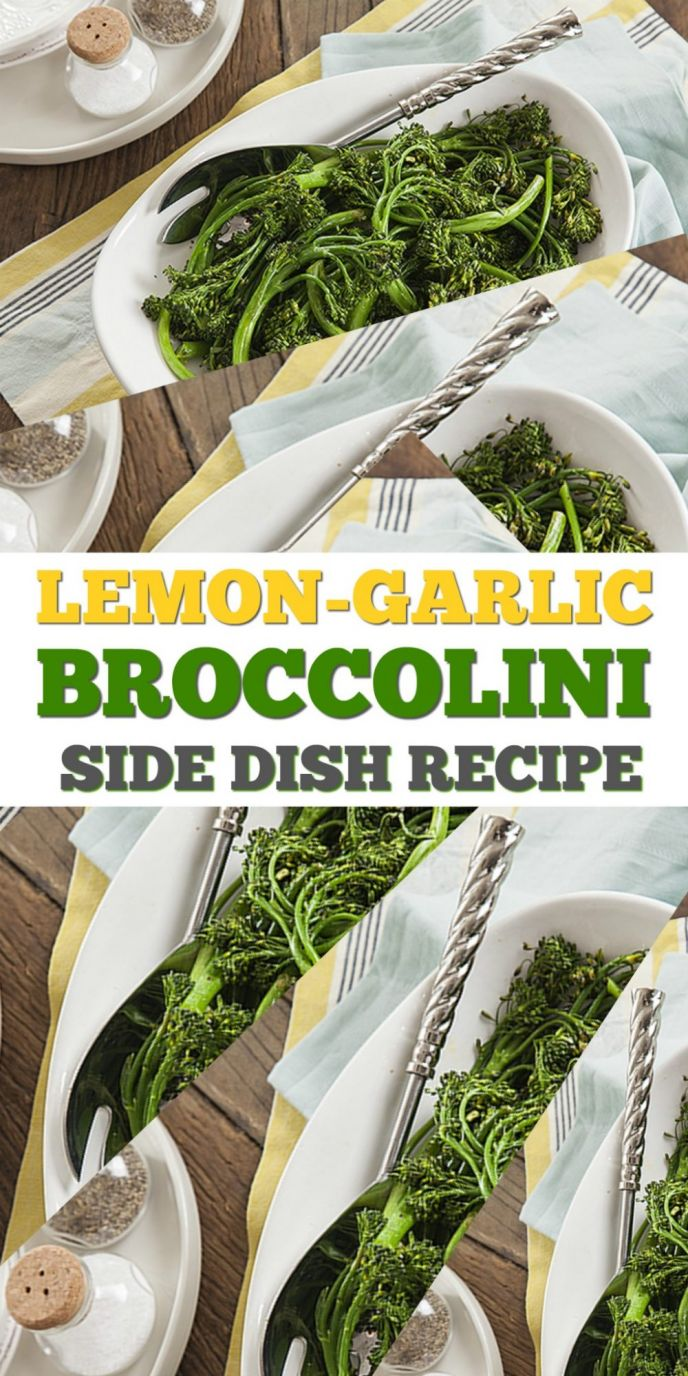 Lemon Garlic Broccolini recipe side dish for Thanksgiving or Christmas! Check out this easy and delicious broccolini recipe!