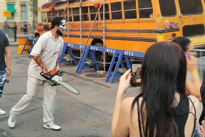 HHN Chainsaw Guy at Universal Orlando