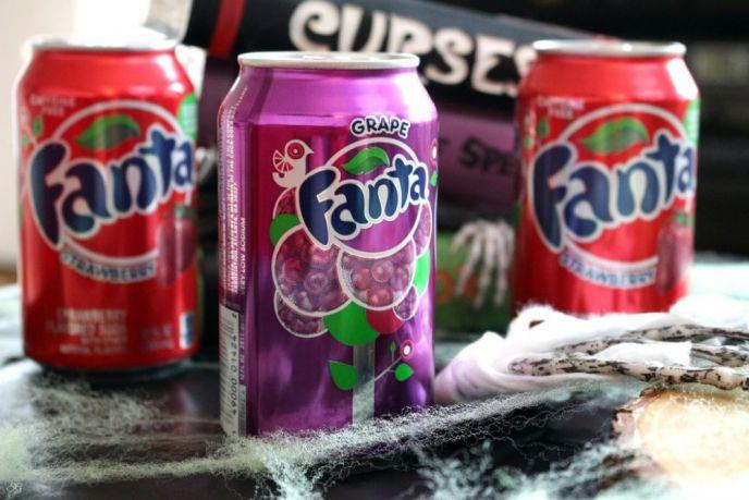 Fanta Grape and Fanta Strawberry Soda