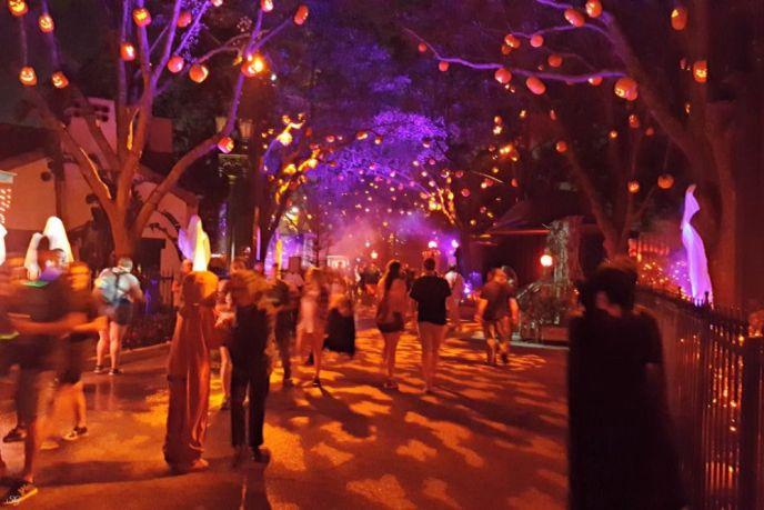 Trick R Treat scare zone at Halloween Horror Nights Universal Studios Orlando