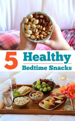 Five Healthy Bedtime Snacks! Don't go to bed hungry, check out these snacks that won't bust your gut and learn how to relieve minor aches and pains that keep you up at night! #ForBetterTomorrows