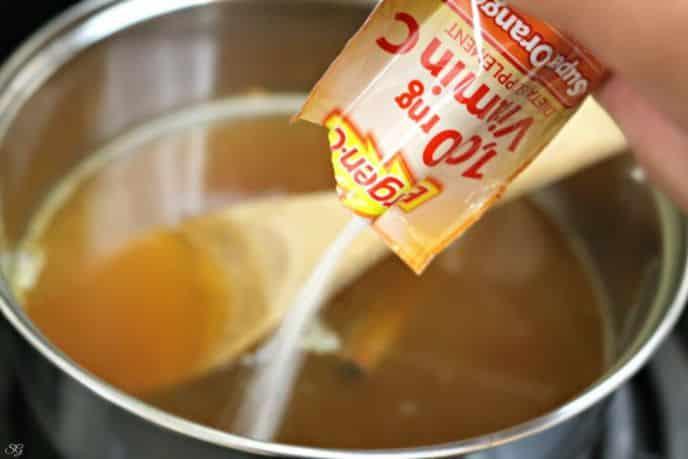 Adding Emergen-C to Hot Apple Cider recipe