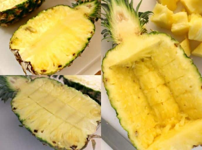 Cutting a Pineapple Boat, learn how to cut a pineapple boat with these 4 easy steps