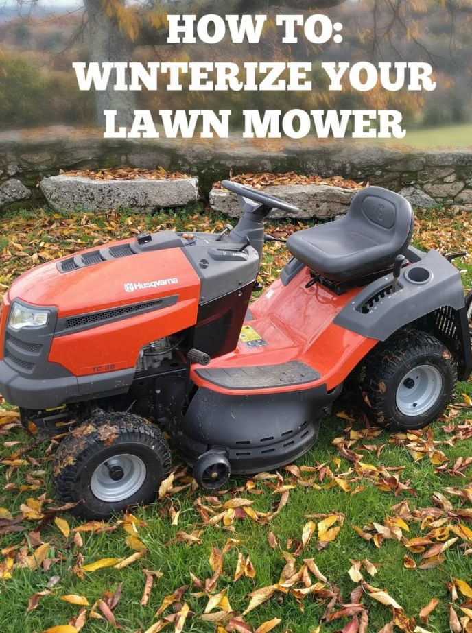 How to Winterize your Lawn Mower! Learn how to winterize your lawn mower before freezing temperatures set in. This will help your mower last a lot longer! Click to see how!