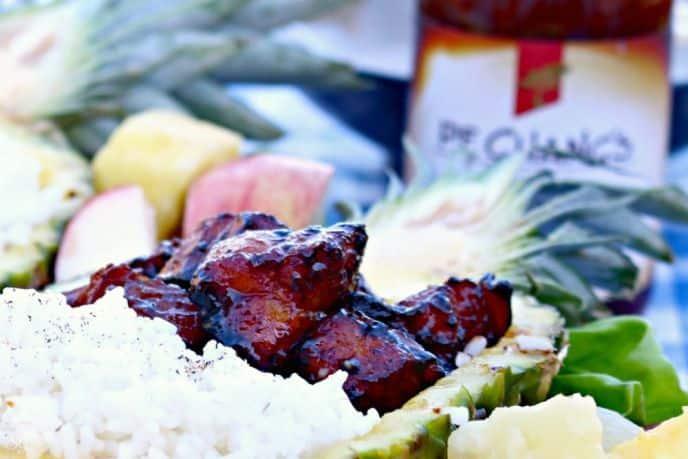 Grilled Mongolian Pork Belly Burnt Ends