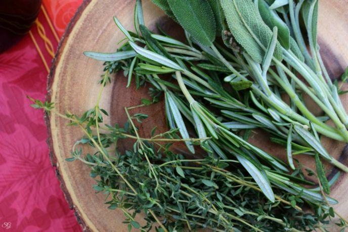 Fresh Sage, Rosemary and Thyme for turkey recipe