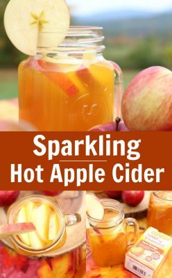 Sparkling Hot Apple Cider Recipe! Make this easy and delicious hot apple cider with a little extra fizz. Get the recipe now!