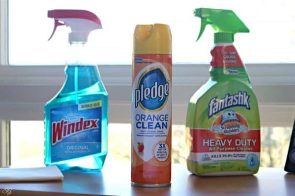 Holiday cleaning supplies