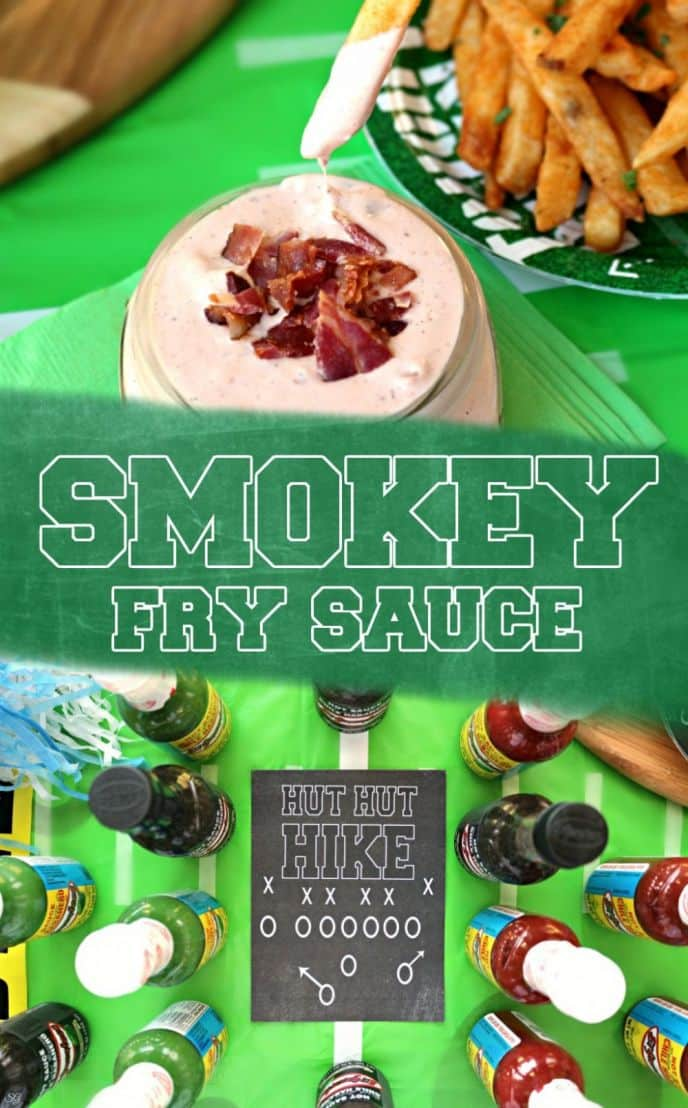 Fry Sauce Recipe with Bacon. Make this super easy recipe for french fry sauce. There's only 4 ingredients and your football crazy fans will love it! #KingOfFlavor #FieldToBottle