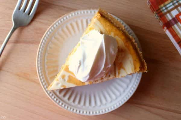 Pumpkin Swirl Cheesecake Recipe with Cool Whip Topping