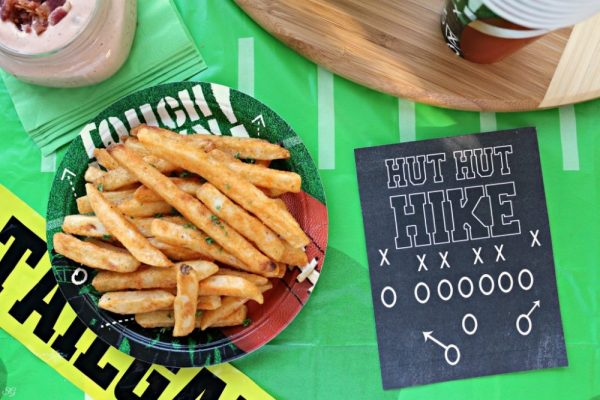 Printable Football Sign and Bacon Fry Sauce