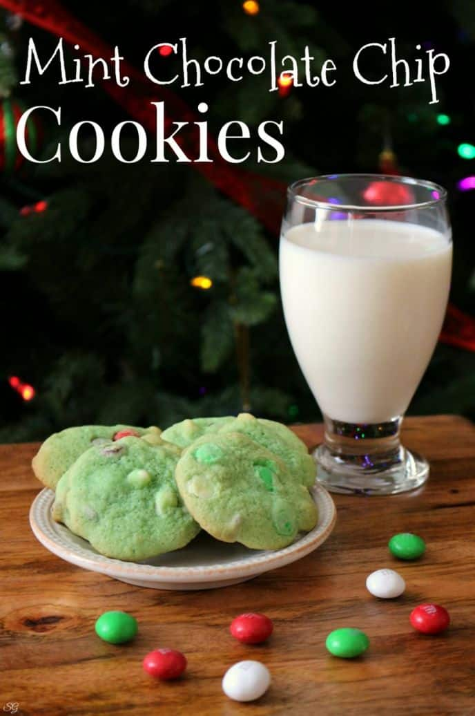 Easy Mint Chocolate Chip Cookies! Check out this mint chocolate chip cookie recipe loaded with M&M's, white and milk chocolate chips and ready for the party in no time!