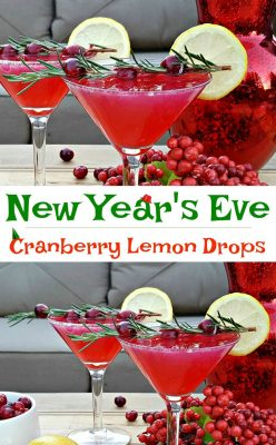 New Year's Eve Drink Recipe! A cranberry lemon drop cocktail you'll want to serve your New Year's Eve guests - a little cheers to go around! Learn how to make this cocktail now! #NYE