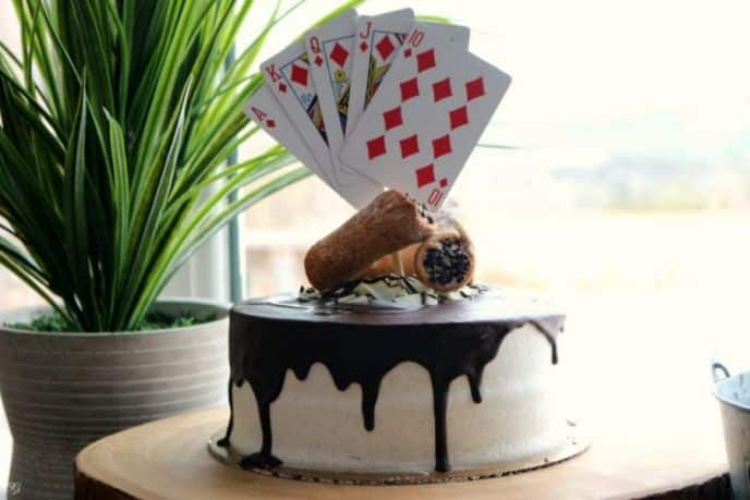 Poker Night Dessert Cake