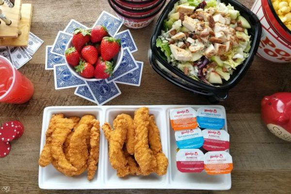 Wendy's Chicken Tenders and Apple Pecan Salad