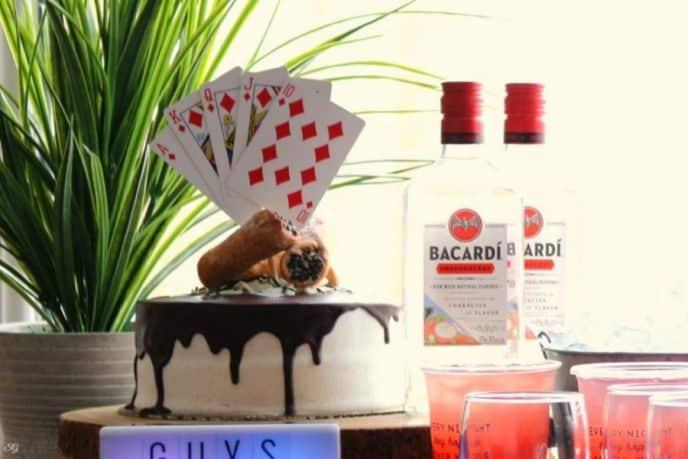 Rum Cannoli Cake with Ganache Waterfall