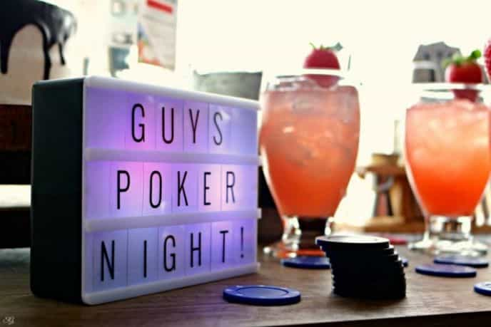 Hosting a poker night for the guys