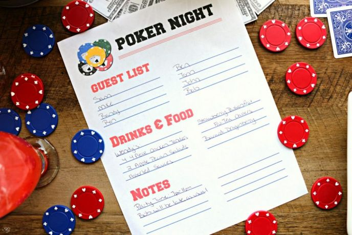 Poker Night Guest and To-Do List