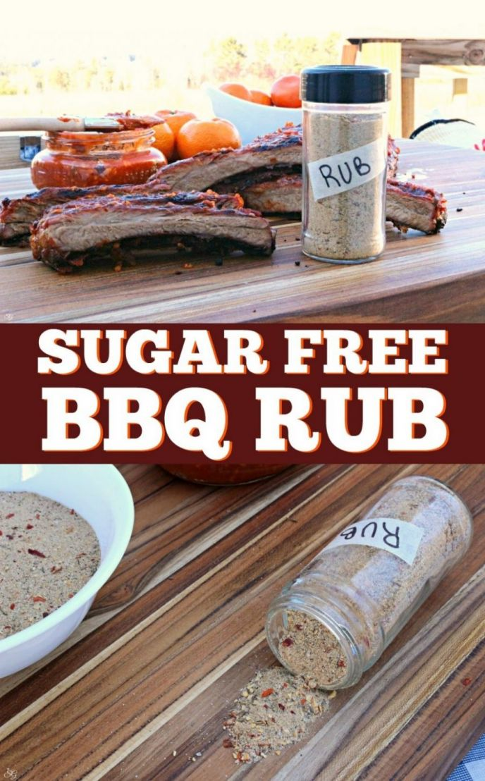 Sugar free BBQ rub recipe. EASY no sugar rub for pork, beef and poultry! Fire up your grill and let's get cookin!