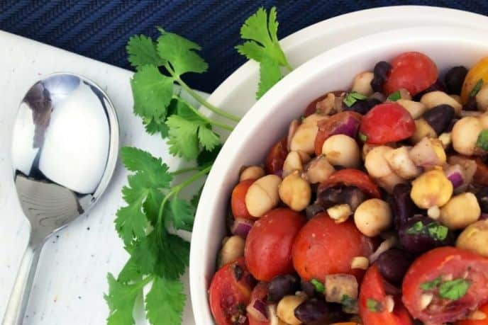 Four Bean Salad Recipe for Summer BBQs or Holiday Parties