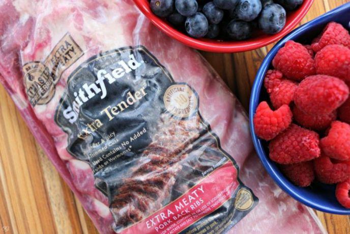Smithfield BBQ Ribs Berry Barbecue Sauce