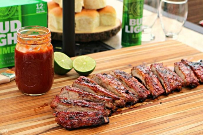 St. Louis Style Lime BBQ Ribs