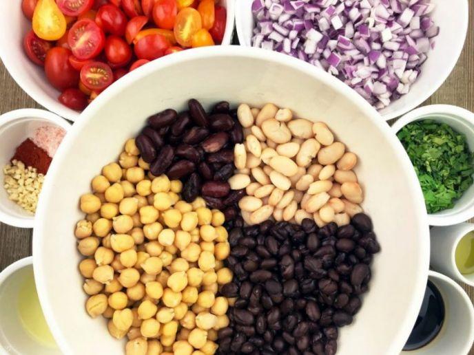 easy four bean salad recipe ingredients