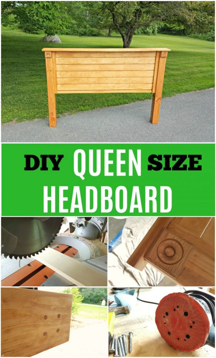 DIY Queen Size Headboard. How do you build a headboard? It's easy when you follow these instructions! Build your own DIY queen headboard!