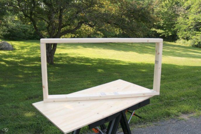 Wood frame for DIY cornhole boards