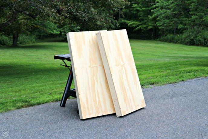 DIY cornhole board project, how to build cornhole boards!