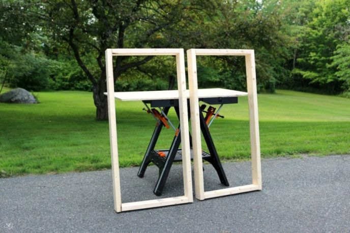 DIY cornhole boards game wood frames build