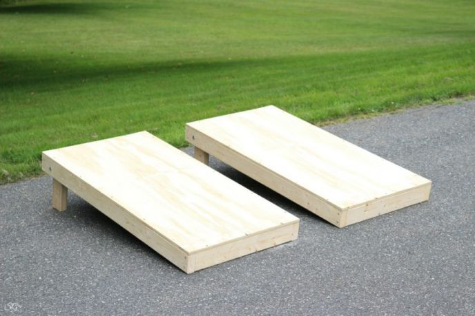 DIY cornhole board set project! Learn how to build a cornhole set!