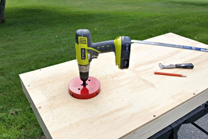How to drill cornhole board holes and where to drill them!