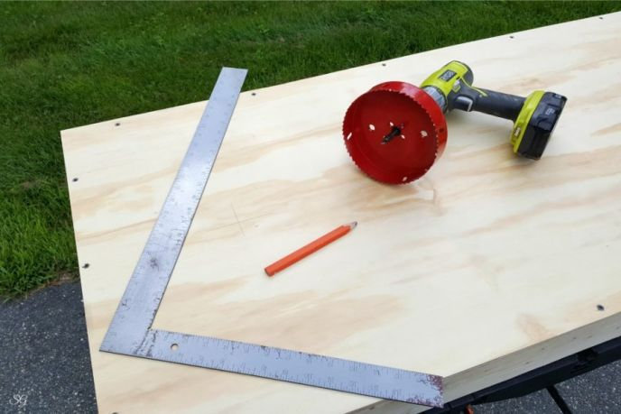 How to drill holes for cornhole boards