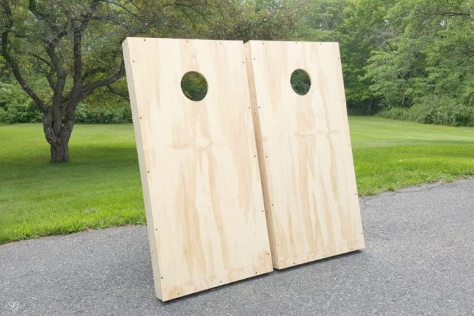 How to build DIY cornhole boards!