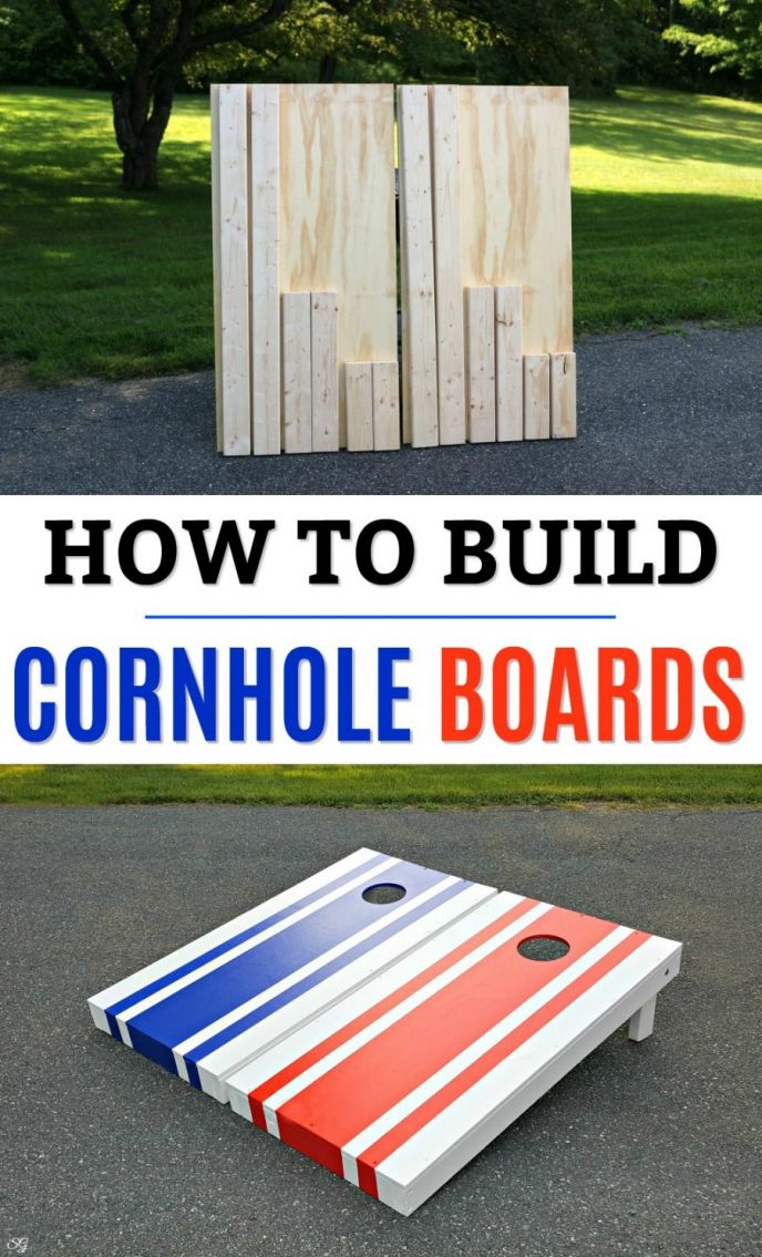 How To Build Cornhole Boards! Learn how to build cornhole game boards for your backyard fun. Build official regulation size cornhole boards at home. Dimensions, cuts, and everything right down to the finishing of the cornhole boards!