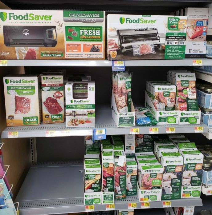 Walmart carries the Foodsaver Food Storage System