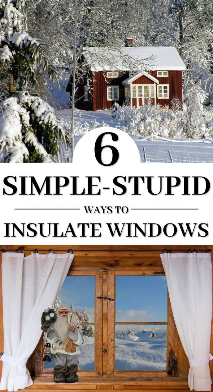 How to insulate windows for winter! Check out these really simple ways to insulate your windows to keep the cold weather out! CLICK to see 6 different ways you can save money this winter!